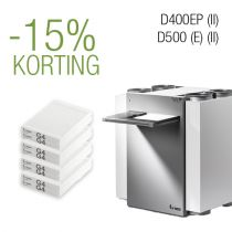 Filter pakket 2 j. -D400EP (II)│D500(E) (II) - G4/G4 - 4 filtersets