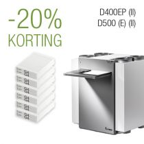 Filter pakket 3 jaar -D400EP (II)│D500(E) (II) - G4/G4 - 6 filtersets