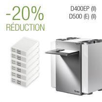 Paquet de filtres 3 ans - D400EP (II)│D500(E) (II) - G4/G4 - 6 jeux de filtres