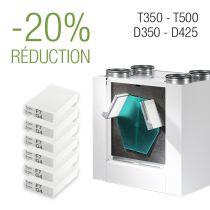 Paquet de filtres 3 ans - D350│D425 | T350 | T500 - F7/G4 - 6 Jeux de filtres
