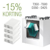 Filter pakket 2 jaar - D350│D425 | T350 | T500 - F7/G4 - 4 filtersets
