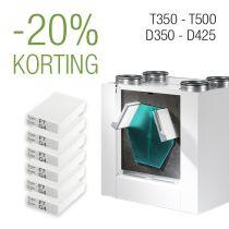 Filter pakket 3 jaar - D350│D425 | T350 | T500 - F7/G4 - 6 filtersets